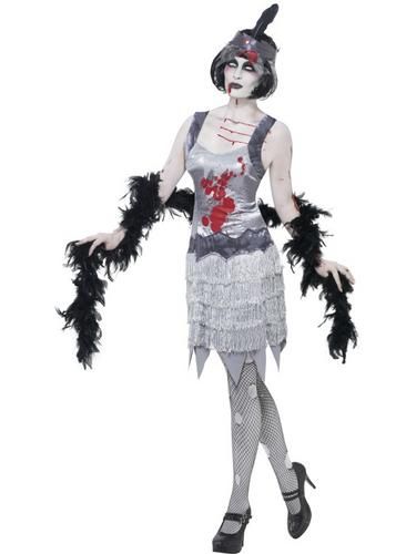 Zombie Flapper Dress Costume Thumbnail 2