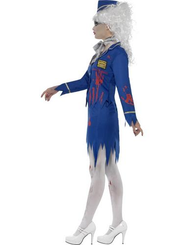 Zombie Air Hostess Costume Thumbnail 3