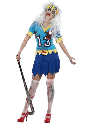 High School Horror Zombie Hockey Player Costume Thumbnail 1