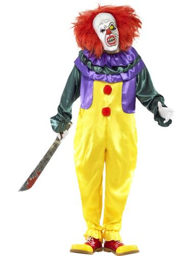 Classic Horror Clown Costume Thumbnail 1