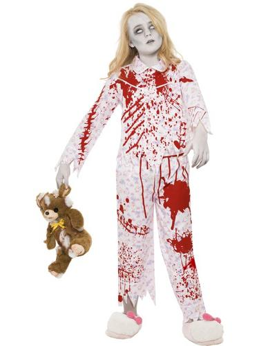 Zombie Pyjama Girl Costume Thumbnail 1