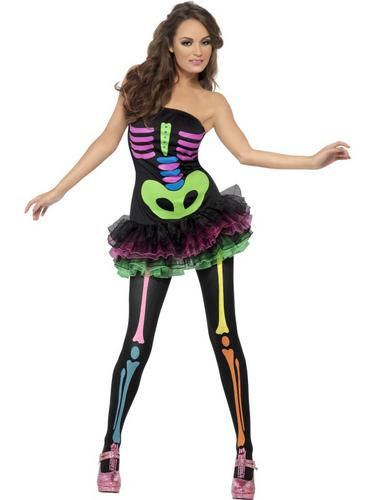 Fever Neon Skeleton Costume Thumbnail 1