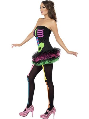 Fever Neon Skeleton Costume Thumbnail 4