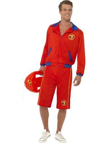 Baywatch Beach Men's Lifeguard Costume Thumbnail 1