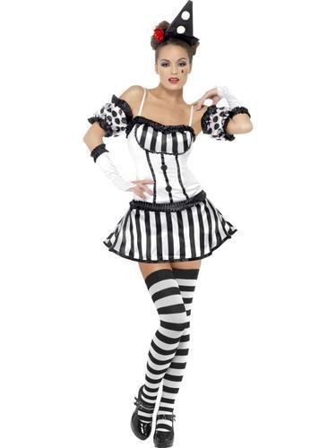 Fever Clown Mime Diva Costume Thumbnail 2