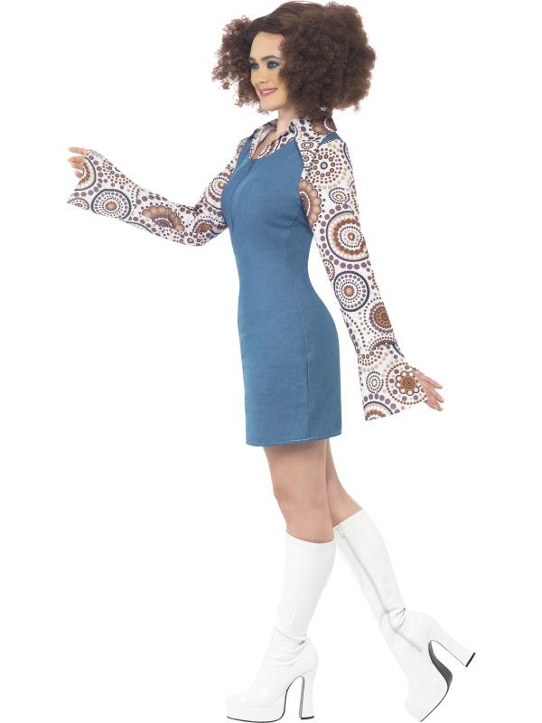Adult 60s 70s Groovy Hippy Disco Dancer Ladies Fancy Dress ...