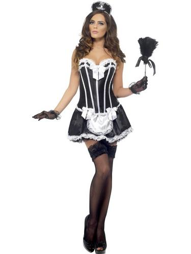 Fever French Maid Costume Thumbnail 2