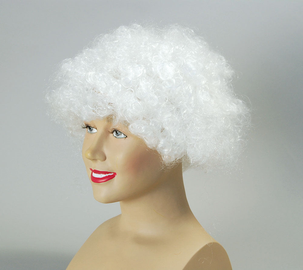 Clown wig White
