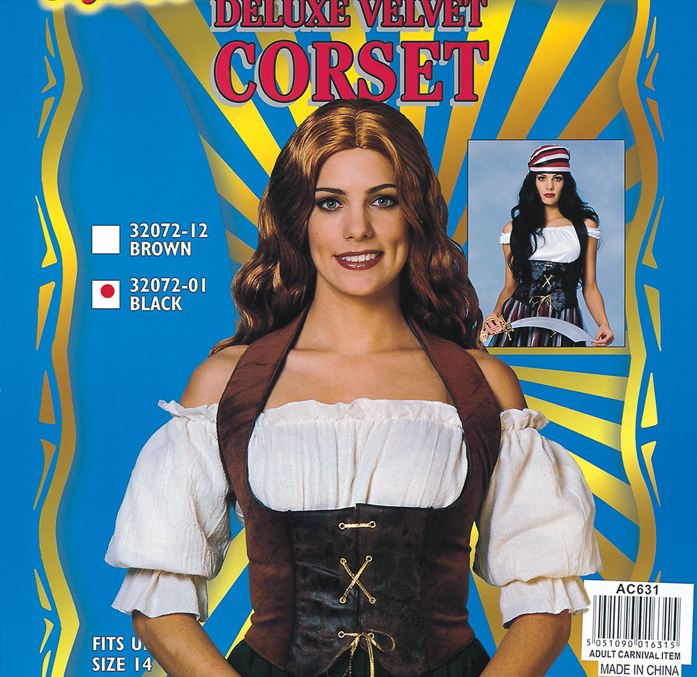Adult Brown Velvet Corset