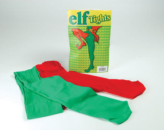 Elf Tights. Green/Red Thumbnail 1