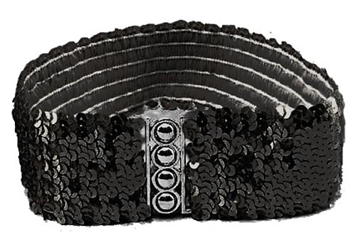 Sequin Belt Black Thumbnail 1