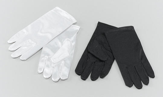 Childs Gloves. White Thumbnail 1