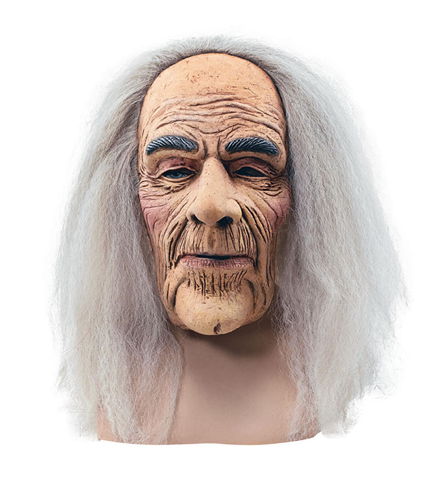 Creepy Old Man Mask & Hair