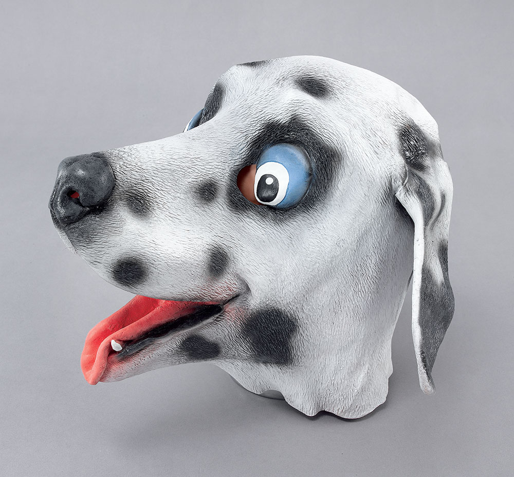 Dalmatian Rubber Overhead Mask