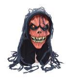 Pumpkin Skull Half Mask