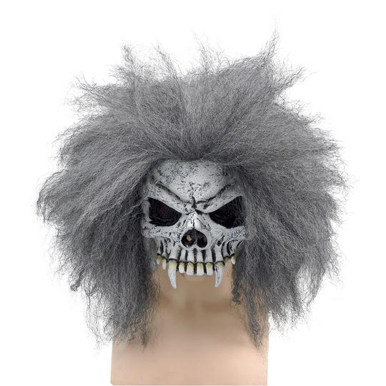 Skull Half Face Mask + Hair Thumbnail 1