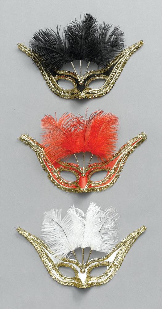 Gran Gala Domino, Blk & Feathers