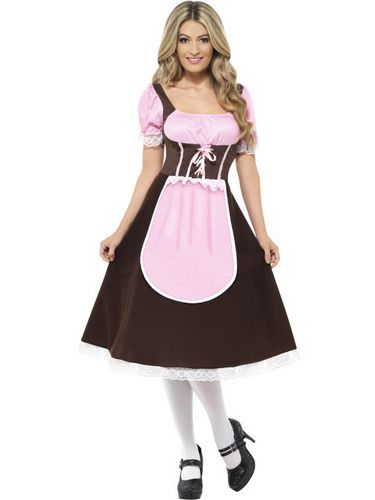 Womens Long Tavern Girl Costume