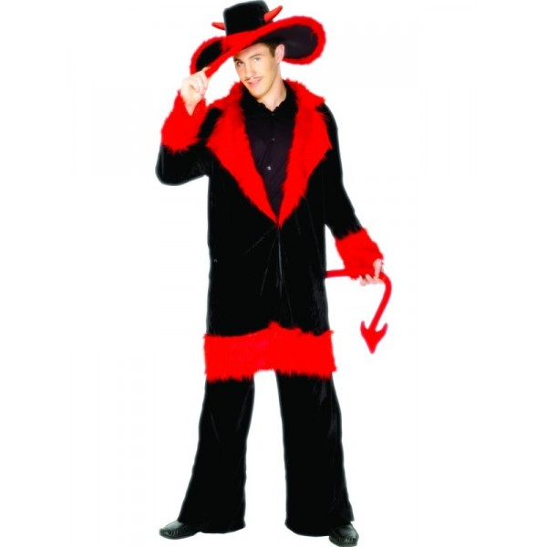 Devil Pimp Fancy Dress Costume