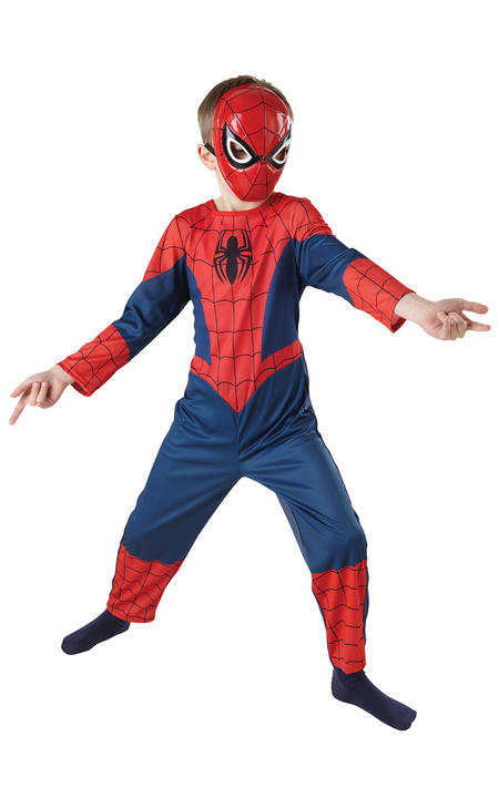 Kids Ultimate Spider Man Classic Costume Thumbnail 2