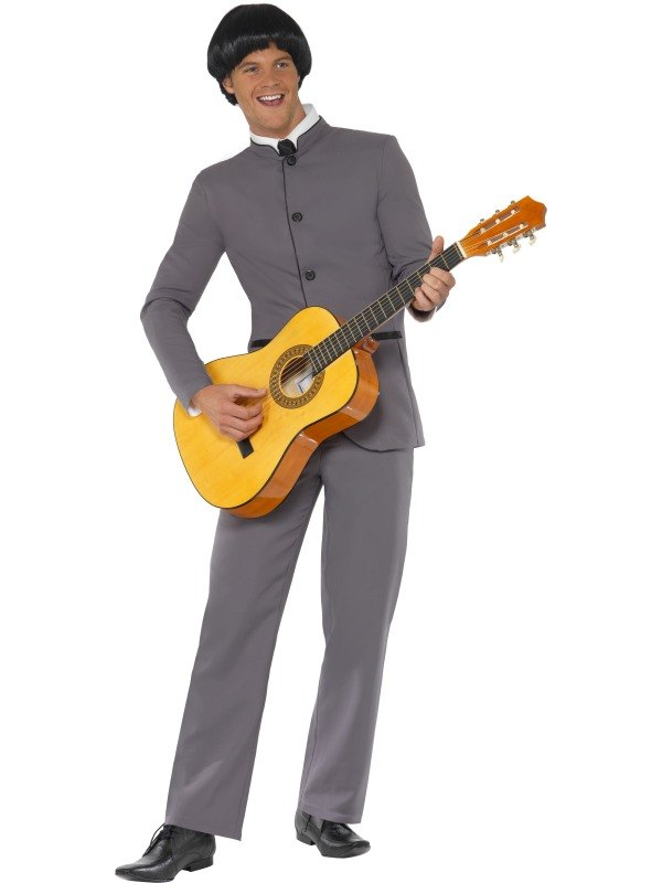Adult 70s Beatles Fab Four Mens Fancy Dress Costume Party Outfit