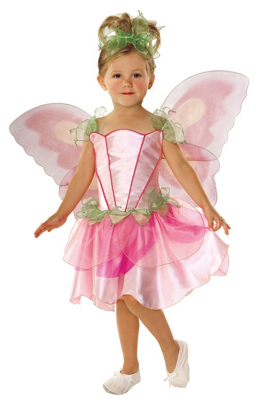 Childrens-Pink-Fairy-Princess-Girls-Fancy-Dress-Costume-Kids-Party-Outfit