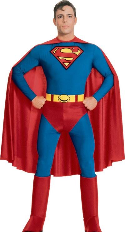 Adult-70s-80s-Superhero-Superman-Mens-Fancy-Dress-  sc 1 st  eBay & Adult 70s 80s Superhero Superman Mens Fancy Dress Stag Night Costume ...