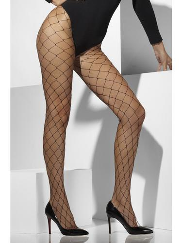 Diamond Net Tights Black Thumbnail 1