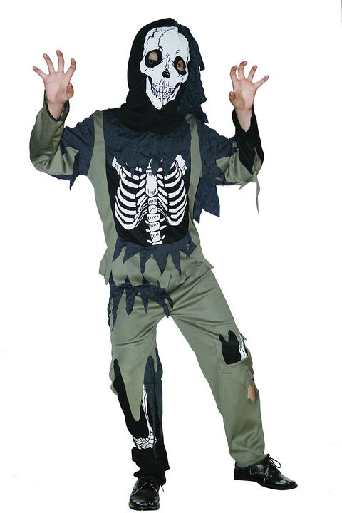 Childs Skeleton Zombie costume Thumbnail 1