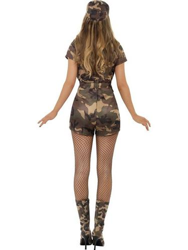 Sexy Army Lady Fancy Dress Costume Thumbnail 2