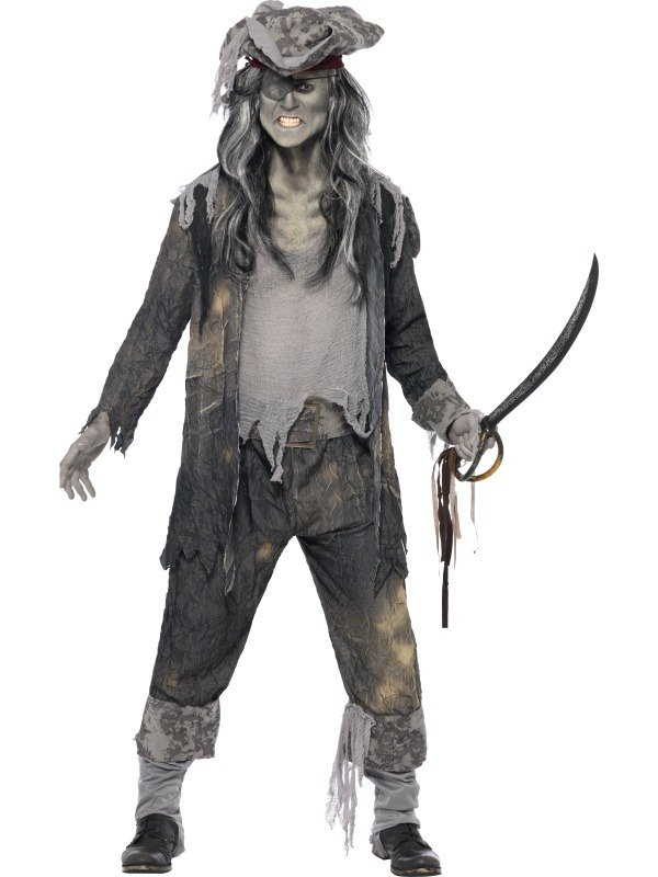 adult zombie pirate ghost ship ghoul mens halloween party. Black Bedroom Furniture Sets. Home Design Ideas