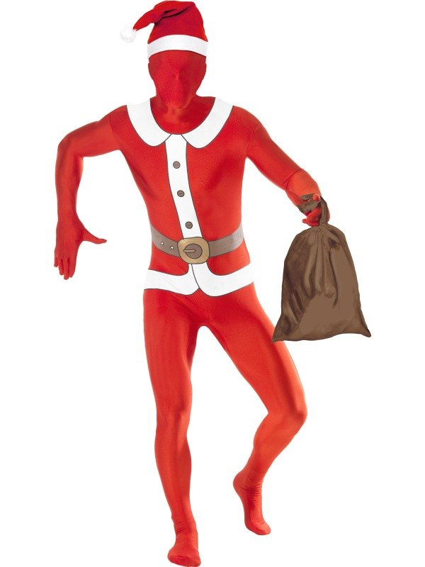 Santa Second Skin Suit Fancy Dress Costume