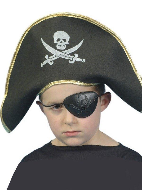 Childs Pirate Captain Fancy Dress Hat EVA