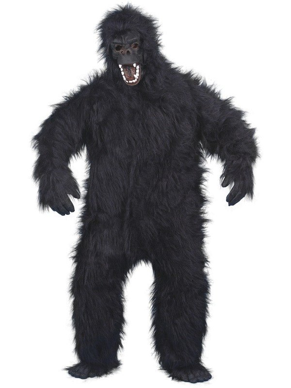 Adult Jungle Gorilla / King Kong Animal Mascot Fancy Dress Costume Outfit