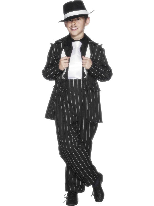 ... 1920s Zoot Suit / Boys Bugsy Gangster Kids Fancy Dress Costume Outfit