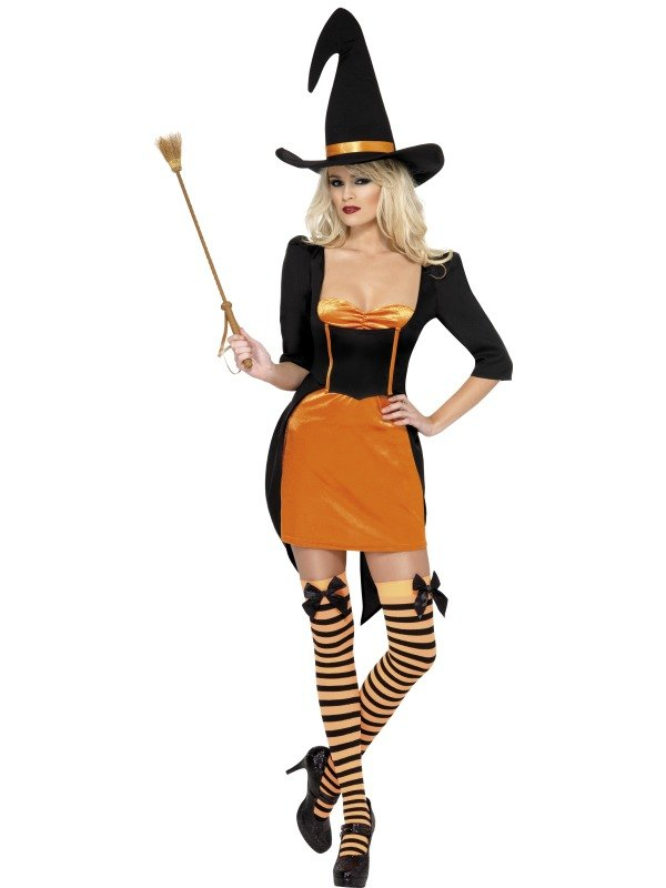 SALE! Adult Sexy Pumpkin Witch Ladies Halloween Party Fancy Dress Costume Outfit