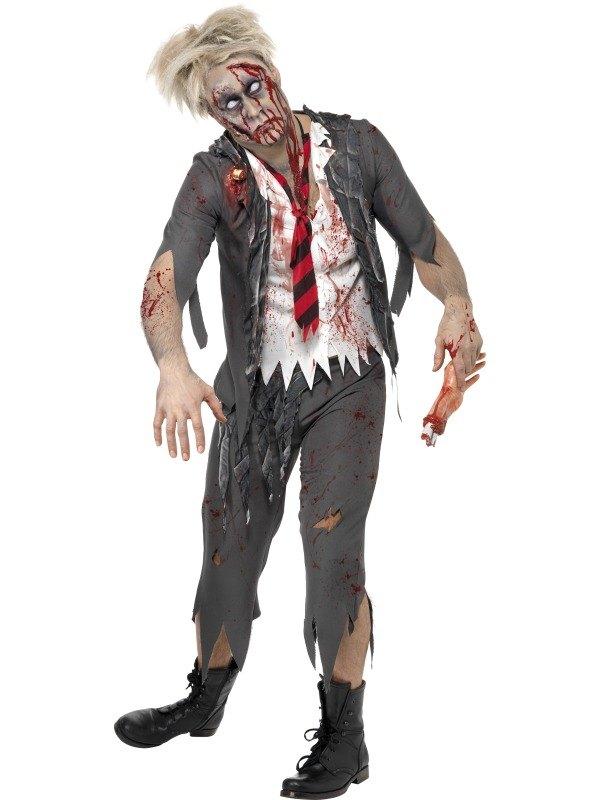 Adult Zombie School Boy Mens Halloween Horror Fancy Dress ...  Adult Zombie Sc...
