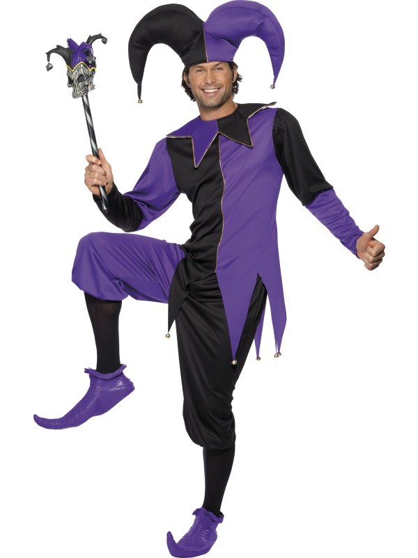 NEW-Adult-Funny-Medieval-Court-Jester-Mens-Fancy-Dress-Stag-Party-Costume-Outfit