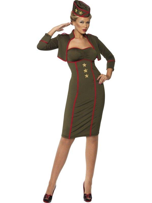 Army Girl Fancy Dress Costume