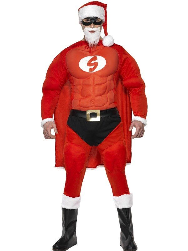 Super Fit Santa Fancy Dress Costume