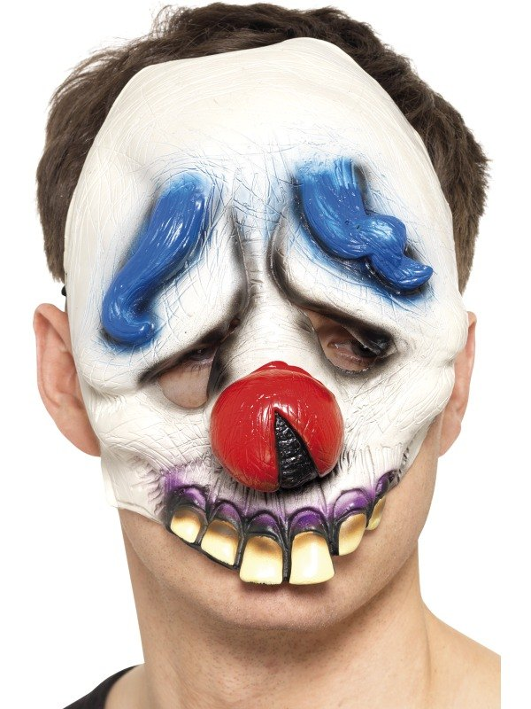 Dopey the Clown Chinless Face Fancy Dress Mask