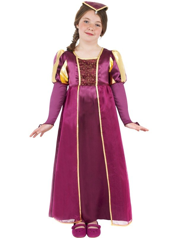 Kids-Medieval-Tudor-Princess-Girls-Book-Week-Fancy-Dress-Costume-Party-Outfit
