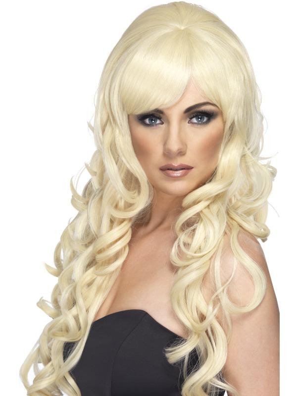 Pop Starlet Fancy Dress Wig Blonde