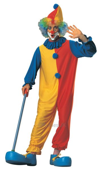 SALE! Adult Funny Circus Clown Mens Fancy Dress Stag Party Costume Outfit