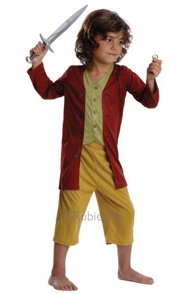 Kids Lord Of The Rings Hobbit Bilbo Baggins Boys Book Week Fancy Dress Costume