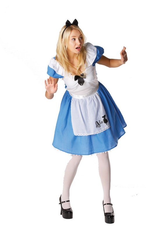 SALE-Adult-Alice-in-Wonderland-Classic-Ladies-Fancy-Dress-Costume-Party-Outfit