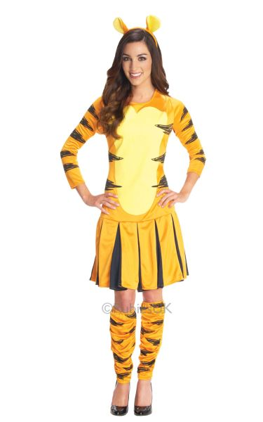 SALE-Adult-Disney-Animal-Miss-Tigger-Ladies-Fancy-Dress-Hen-Party-Costume-Outfit