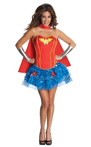 Adult Sexy Superhero Wonder Woman Ladies Fancy Dress Hen Party Costume Outfit