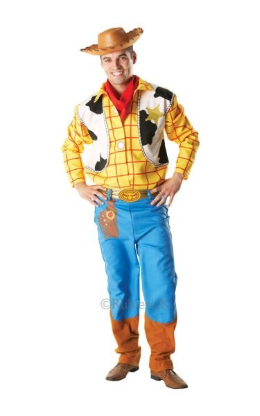 Sale Adult Disney Cowboy Woody Toy Story Mens Fancy Dress Party Costume Outfit