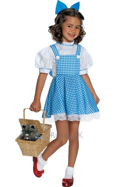 Childrens-Wizard-Of-Oz-Dorothy-Kids-Book-Week-Girls-Fancy-Dress-Costume-Outfit